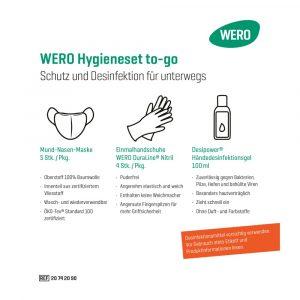 WERO Hygieneset TO-GO - Higijenski set - Maske, rokavice, razkužilo